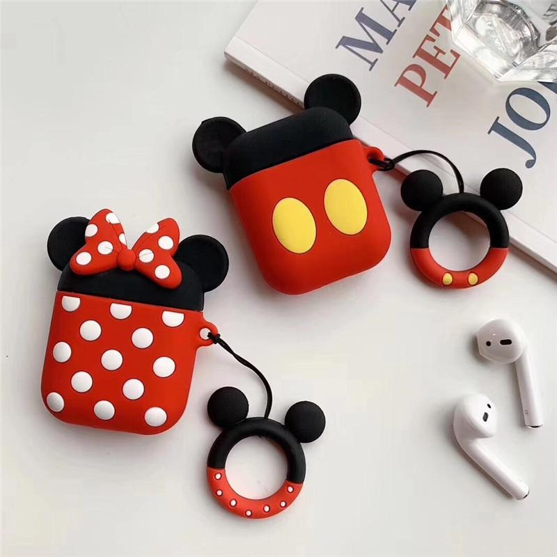 Cute Mickey Mouse Minnie Silicone AirPods Protective Case AirPods 1 2 – Casememe