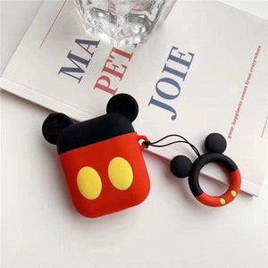Cute Mickey Mouse Minnie Silicone AirPods Protective Case Cover For Apple Airpods 1 & 2 - Casememe.com