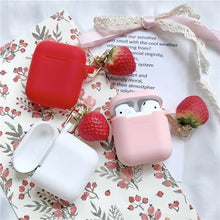 Load image into Gallery viewer, Cute 3D Strawberry Red Silicone Protective Shockproof Case For Apple Airpods 1 & 2 - Casememe.com