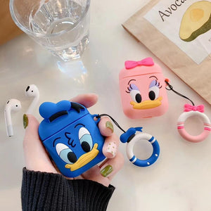 Disney Style Donald Daisy Duck Silicone Protective Shockproof Case For Apple Airpods 1 & 2 - Casememe.com