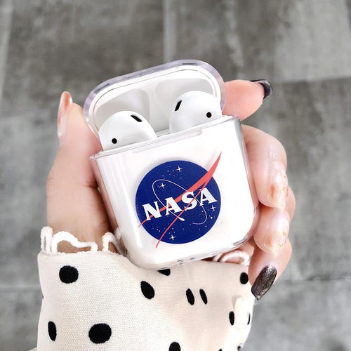 NASA Style Astronaut Space Clear Hard Protective Shockproof Case For Apple Airpods 1 & 2