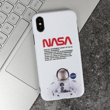 Load image into Gallery viewer, Luxury NASA USA Trendy Astronaut America Space Matte Silicone Designer iPhone Case For iPhone SE 11 PRO MAX X XS XS Max XR - Casememe.com