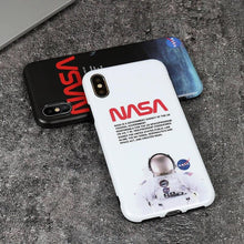 Load image into Gallery viewer, Luxury NASA USA Trendy Astronaut America Space Matte Silicone Designer iPhone Case For iPhone X XS XS Max XR - Casememe.com
