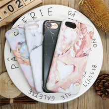 Load image into Gallery viewer, Fancy Marble Matte Silicone Bumper Designer iPhone Case With Pop Socket Case For iPhone X / XS / XS Max / XR - Casememe.com