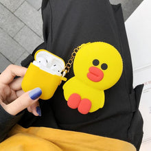 Load image into Gallery viewer, LINE Friends Bear Rabbit Totoro Silicone Protective Shockproof Case For Apple Airpods 1 & 2 - Casememe.com