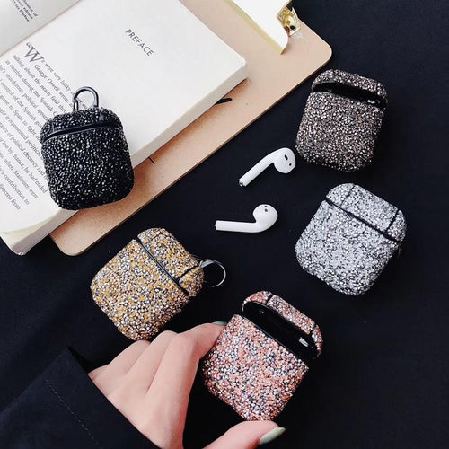 Sexy Bling Glitter Handmade Hard Protective Shockproof Case For Apple Airpods 1 & 2 - Casememe.com