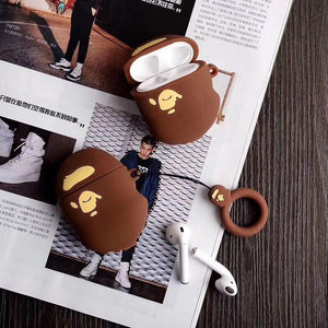Retro Bape Style 3D Street Fashion Silicone Protective Shockproof Case For Apple Airpods 1 & 2 - Casememe.com