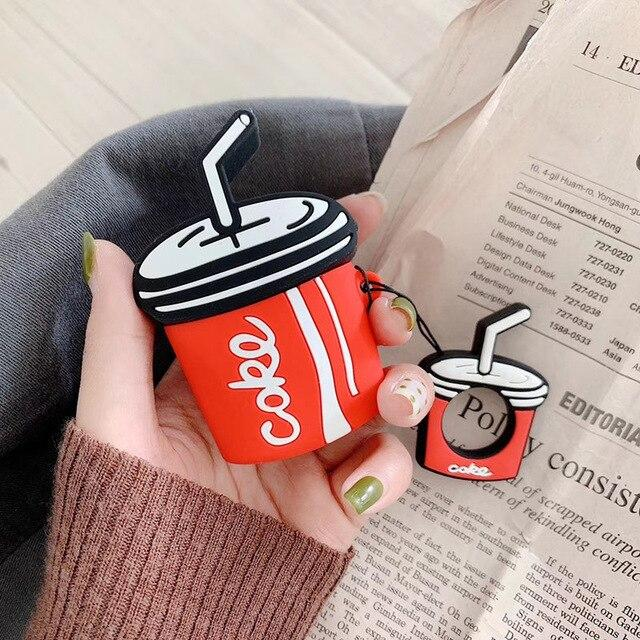 3D Cute Coke Cola Summer Silicone Protective Shockproof Case For Apple Airpods 1 & 2 - Casememe.com