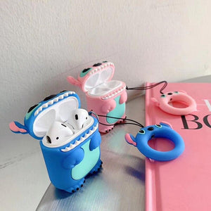 Stitch Cute Blue Pink Silicone Protective Shockproof Case For Apple Airpods 1 & 2 - Casememe.com