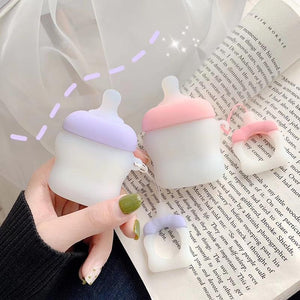 Cute Baby Milk Bottle Silicone Protective Shockproof Case For Apple Airpods 1 & 2 - Casememe.com