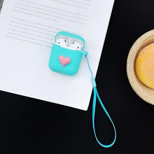 Load image into Gallery viewer, Glitter Sexy Lip Heart Silicone Protective Shockproof Case For Apple Airpods 1 & 2 - Casememe.com