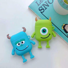 Load image into Gallery viewer, Monster University Minnie Mickey Silicone Protective Shockproof Case For Apple Airpods 1 & 2 - Casememe.com