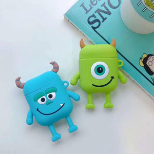 Monster University Minnie Mickey Silicone Protective Shockproof Case For Apple Airpods 1 & 2 - Casememe.com