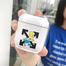 Load image into Gallery viewer, Nike x Simpsons Style Vans Clear Transparent Hard Protective Shockproof Case For Apple Airpods 1 & 2 - Casememe.com