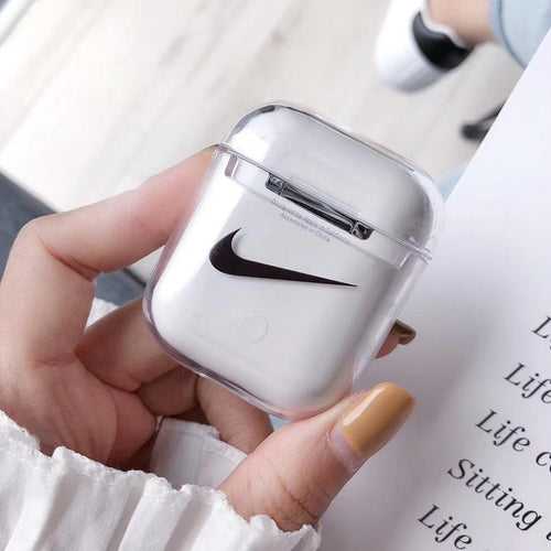 Nike Style Louboutin AMG Clear Hard Protective Shockproof Case For Apple Airpods 1 & 2