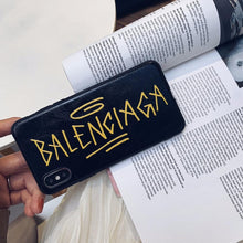 Load image into Gallery viewer, Balenciaga Style Fashion Genuine Leather Shockproof Protective Designer iPhone Case For iPhone 12 SE 11 Pro Max X XS Max XR 7 8 Plus - Casememe.com