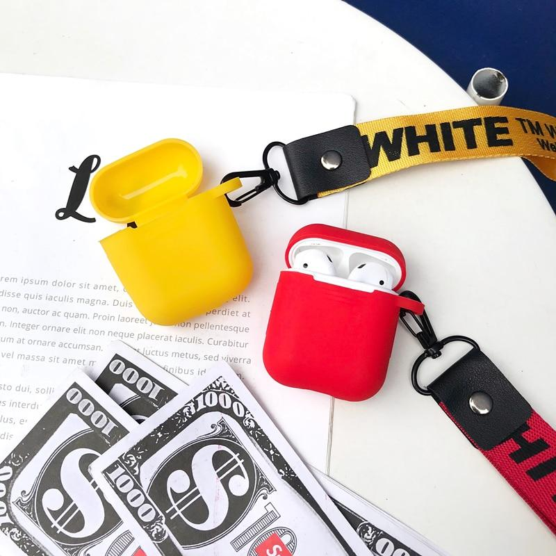 38ab7ecac1c ... Load image into Gallery viewer, Off White OW Street Fashion Trendy  Lanyard Silicone Protective Shockproof ...