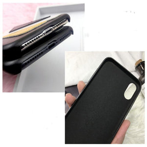 Fendi Style Devil Eye Soft Leather Luxury Designer iPhone Case For iPhone X XS XS Max XR 7 8 Plus - Casememe.com