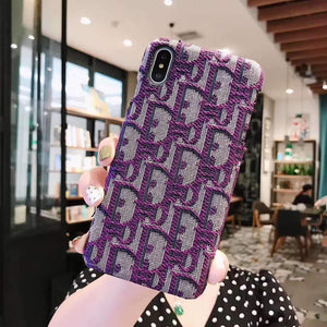 MORE COLORS Dior Style Classic Fabric Silicone Designer iPhone Case For iPhone SE 11 PRO MAX X XS XS Max XR 7 8 Plus - Casememe.com