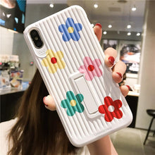 Load image into Gallery viewer, Floral Kickstand Silicone Shockproof Protective Designer iPhone Case For iPhone SE 11 Pro Max X XS Max XR 7 8 Plus - Casememe.com