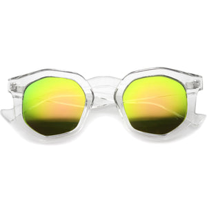 Geometric Colorful Translucent Hexagon Sunglasses