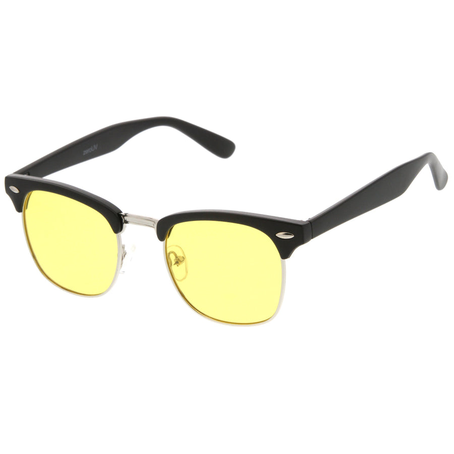 Indie Half Frame Horned Rim Polarized Sunglasses