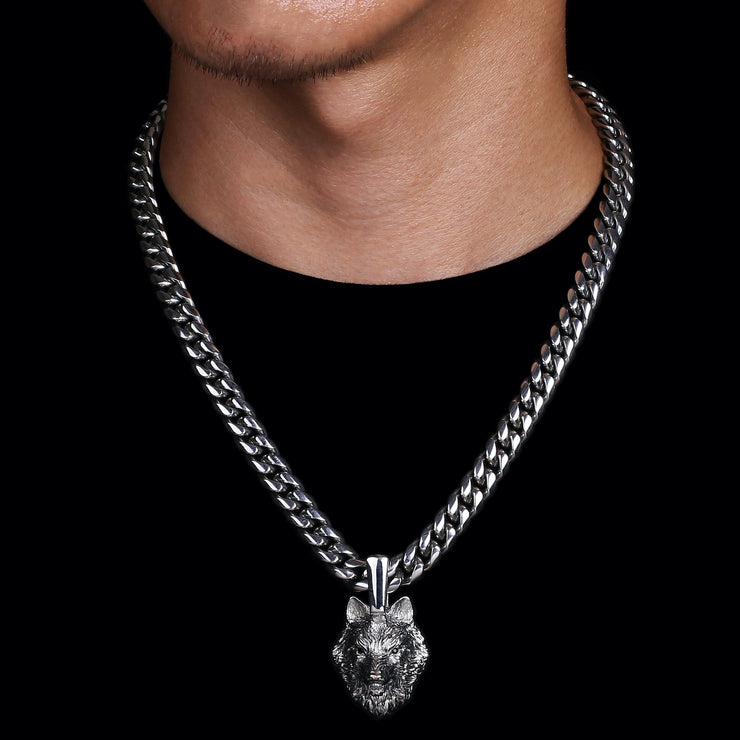 Pendant Stainless Steel Miami Cuban Link Chain United Se7en