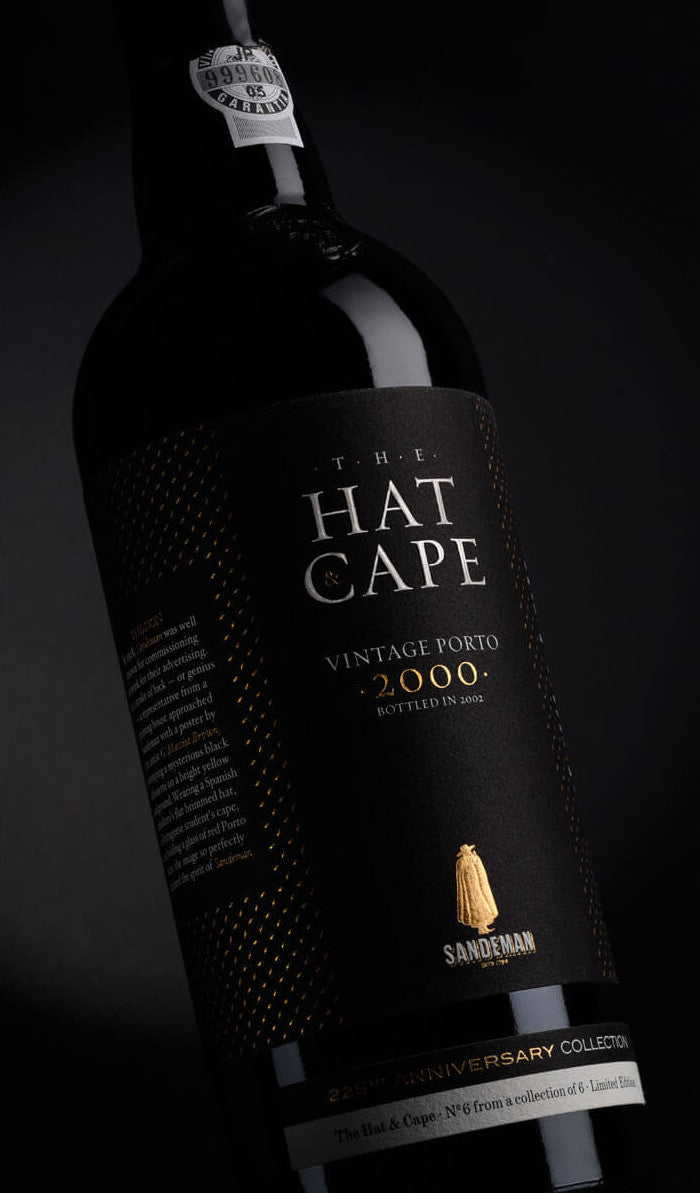Vinho do Porto Vintage 2000 The Hat & Cape . Sandeman . Ed 225 Anos