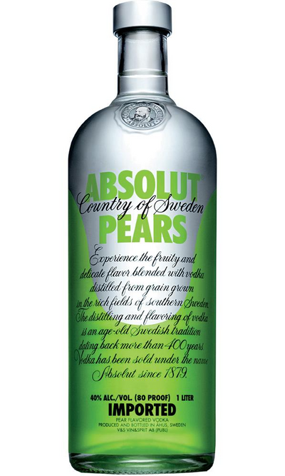 Vodka Absolut Pears