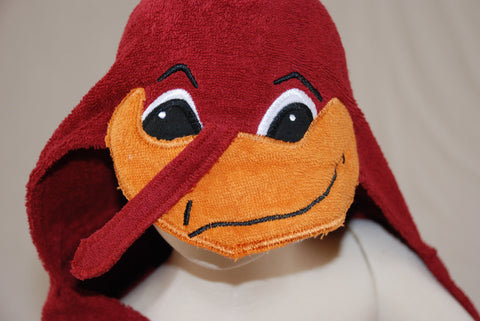 Hokie Bird Hooded Towel