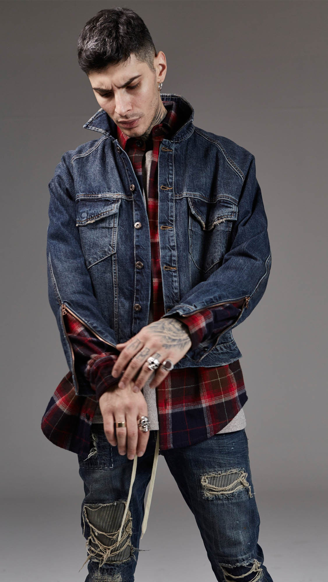 Basic Selvedge Denim Jacket - Vintage