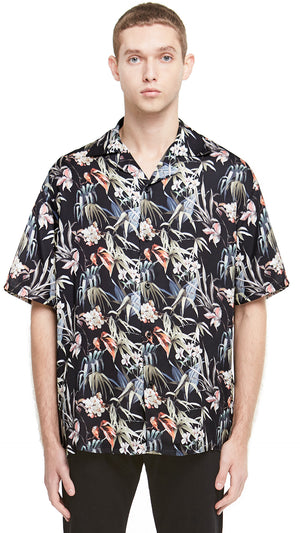 Camp Collar Shirt - Black Floral