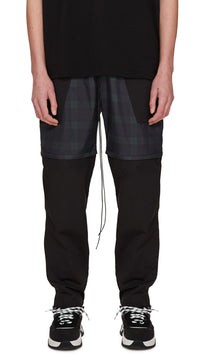 Technical Zip Pants - Black/Dark Check