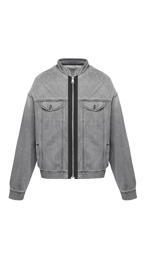 Selvedge Denim Jacket - Grey