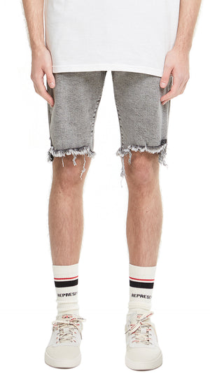 Denim Shorts - Acid Grey