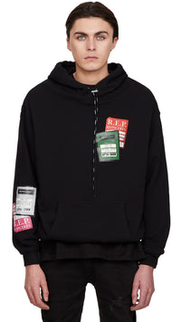 Tour Patch Hoodie - Black