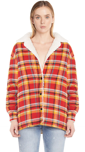 Women's Sherpa Shirt - Red