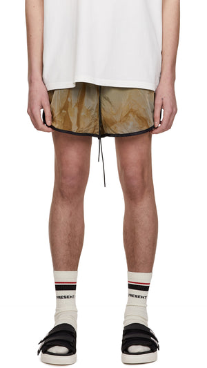Swim Shorts - Tan Tie Dye