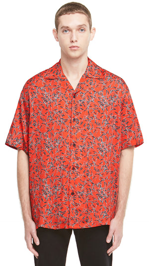 Camp Collar Shirt - Red Floral