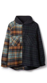 Hooded Flannel Jacket - Split