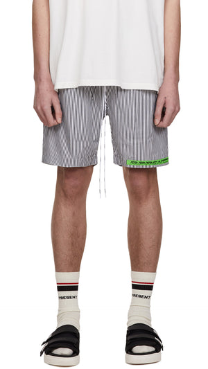 Stripe Shorts - White Pinstripe
