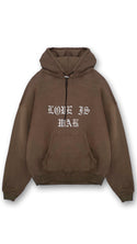 Love Is War Hoodie - Vintage Brown
