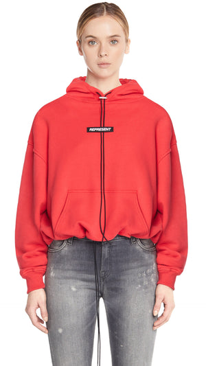 Women's Patch Hoodie - Red