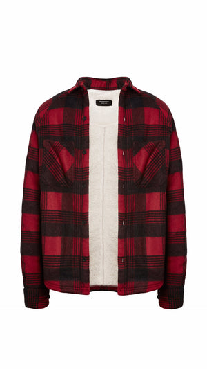 Sherpa Flannel - Blood Red