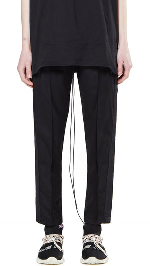 Straight Leg Pants - Black