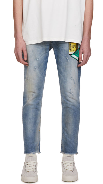 Patch Relaxed Denim - Blue
