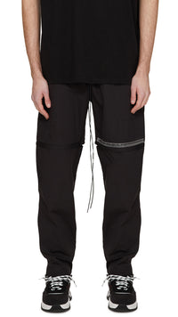 Technical Zip Pants - Black
