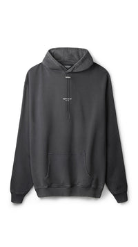 Regular Fit Logo Hoodie - Washed Black