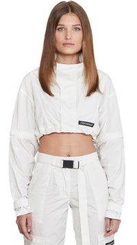 Women's Cropped Anorak - White