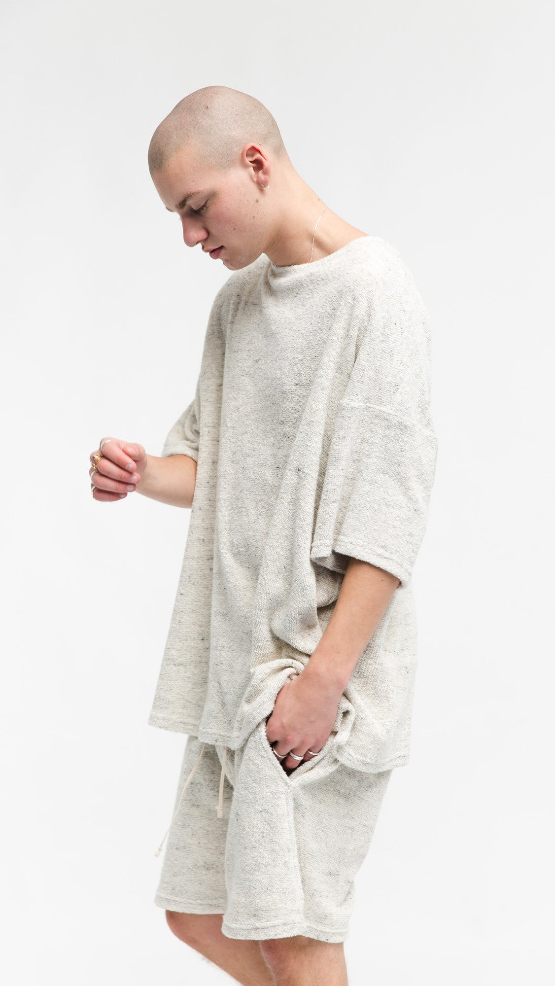 Towel T-shirt - Cream